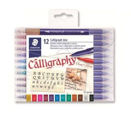 Staedtler Calligraphy duo kalligrafie pen set 12 st