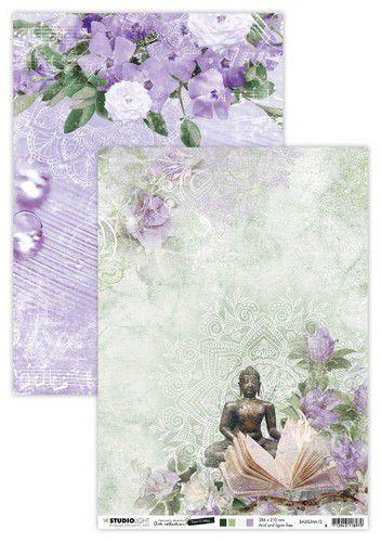 Studio Light Basis A4 Achtergrondpapier Jenine's Mindful Art 5.0 nr.12