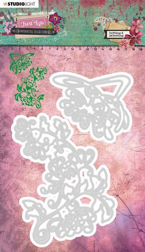Studio Light Embossing Die Cut Stencil Just Lou Botanical Collection nr.07