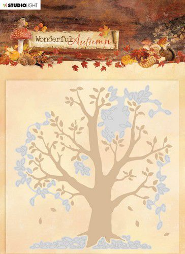 Studio Light Embossing Folder With Die Cut Wonderful Autumn nr.05