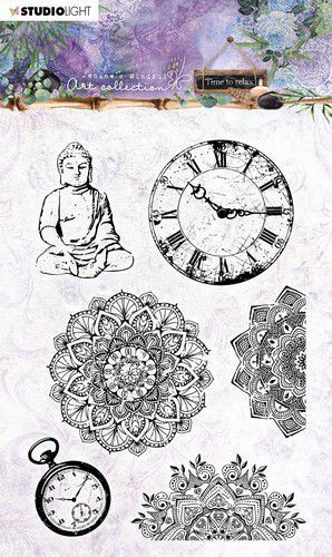 Studio Light Jenine's Mindful Art Clear Stamp Time to Relax nr.17 105x148mm