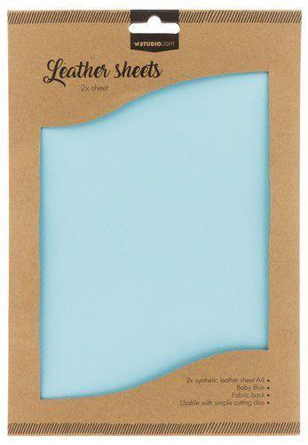 Studio Light kunstlederen vellen nr.08 - baby blue  2xA4