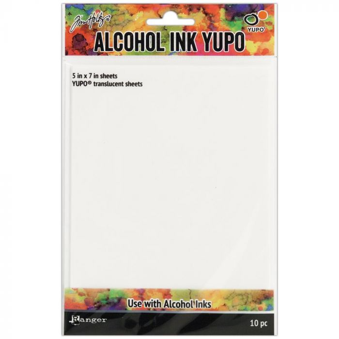 Tim Holtz Alcohol Ink Transulcent Yupo Paper 10 Sheets 5