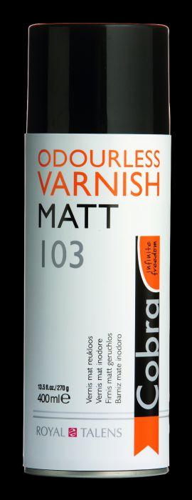 COBRA WATERVERMENGBAARE VARNISH MAT Spuitbus 400 ml