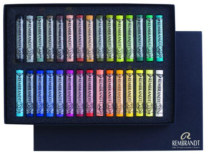 Rembrandt Softpastels basiset algemene collectie 30 hele pastels 300C30
