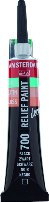 Amsterdam Reliefpaint Tube 20 ml BLACK