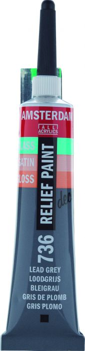 Amsterdam Reliefpaint Tube 20 ml LEAD GREY