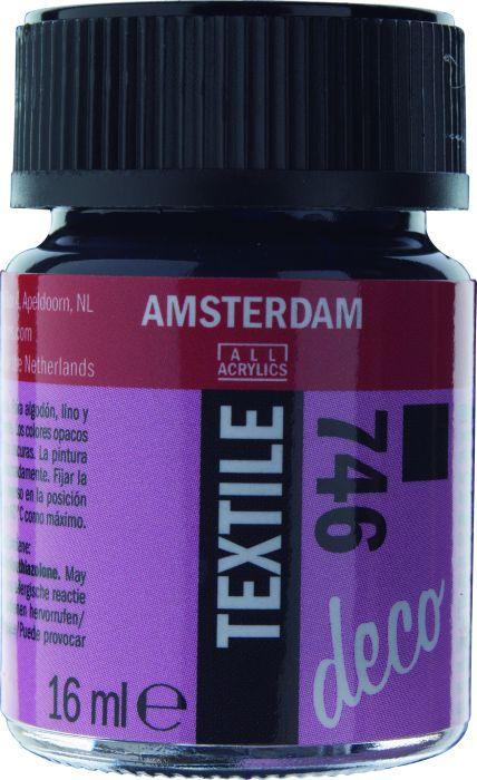 Amsterdam TEXTIEL Flacon 16ml BLACK OPAQUE
