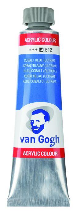 VAN GOGH ACRYLVERF COBALT BLUE ULTRAMARINE tube 40ml