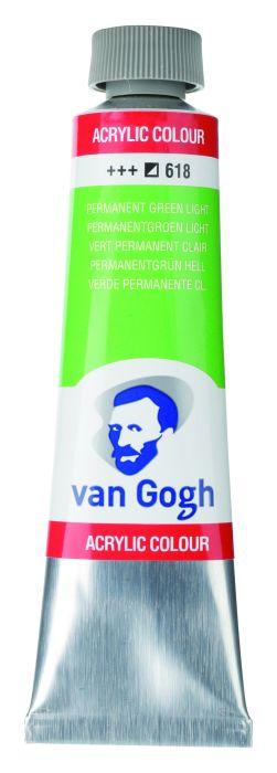 VAN GOGH ACRYLVERF PERMANENT GREEN LIGHT tube 40ml