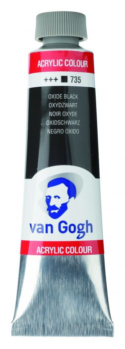VAN GOGH ACRYLVERF OXIDE BLACK tube 40ml