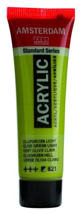 AMSTERDAM ACRYLVERF OLIVE GREEN LIGHT Tube 20ml