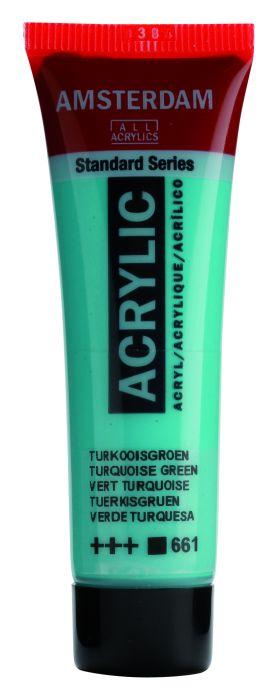 AMSTERDAM ACRYLVERF TURQUOISE GREEN Tube 20ml