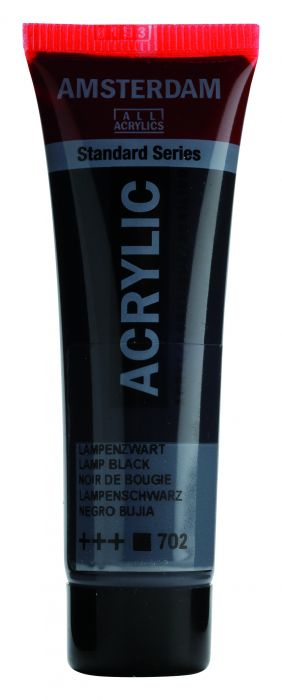 AMSTERDAM ACRYLVERF LAMP BLACK Tube 20ml