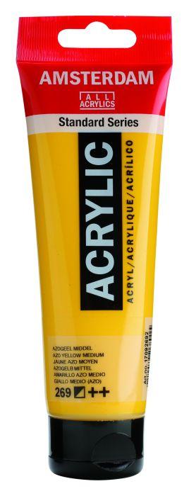 AMSTERDAM ACRYLVERF AZO YELLOW MEDIUM Tube 120ml