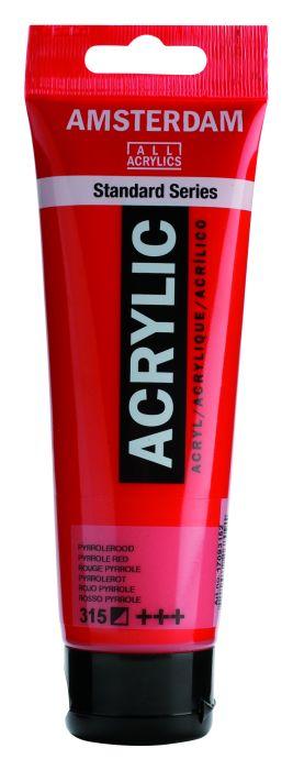 AMSTERDAM ACRYLVERF PYRROLE RED Tube 120ml