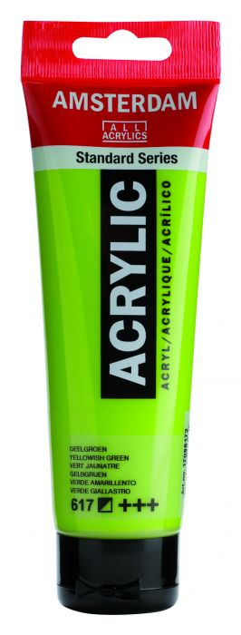 AMSTERDAM ACRYLVERF YELLOWISH GREEN Tube 120ml