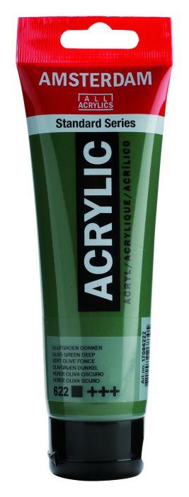 AMSTERDAM ACRYLVERF OLIVE GREEN DEEP Tube 120ml