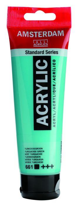 AMSTERDAM ACRYLVERF TURQUOISE GREEN Tube 120ml