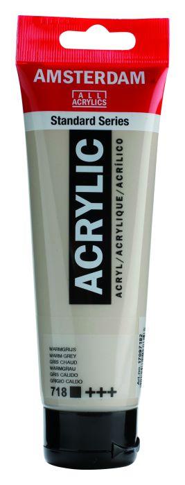 AMSTERDAM ACRYLVERF WARM GREY Tube 120ml