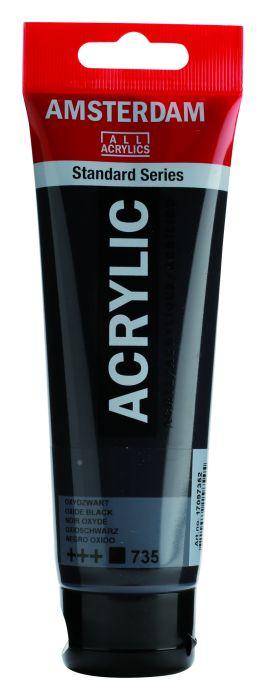 AMSTERDAM ACRYLVERF OXYDE BLACK Tube 120ml
