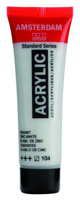 AMSTERDAM ACRYLVERF ZINC WHITE Tube 20ml
