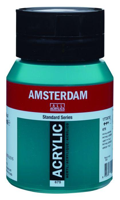 Amsterdam Acrylverf 500 ml Phtalogroen