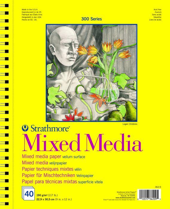 Strathmore 300 Mixed Media 22,9x30,5 40 vellen ringband