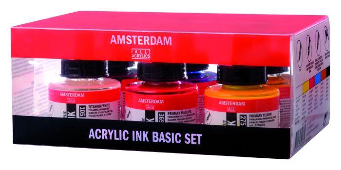 AMSTERDAM ACRYLIC INKT SET 6X30ML