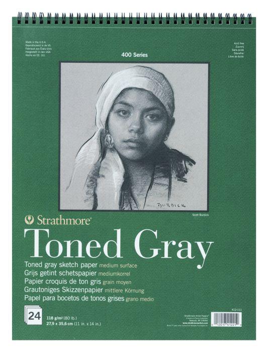 Strathmore 400Toned Gray Schetspapier 118GR 11