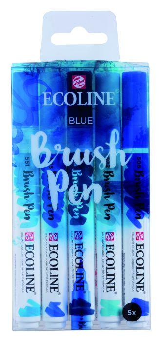 ECOLINE BRUSHPEN X5 BLUE