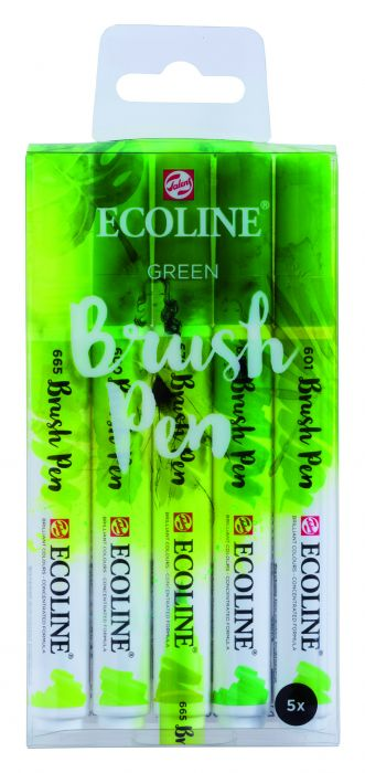 ECOLINE BRUSHPEN X5 GREEN