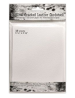 Tim Holtz Distress Cracked Leather Cardstock 12/Pkg 4.25