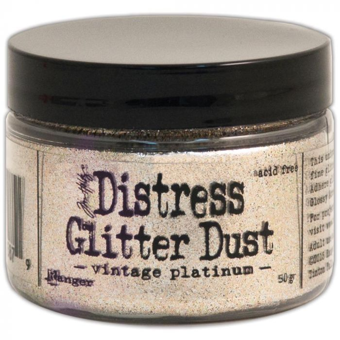Tim Holtz Distress Glitter Dust: Vintage Platinum