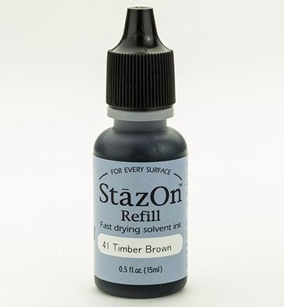 StazOn Ink Refill, timber brown