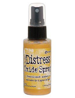 Pre-order Tim Holtz Distess Oxide Spray 2oz Fossilized Amber