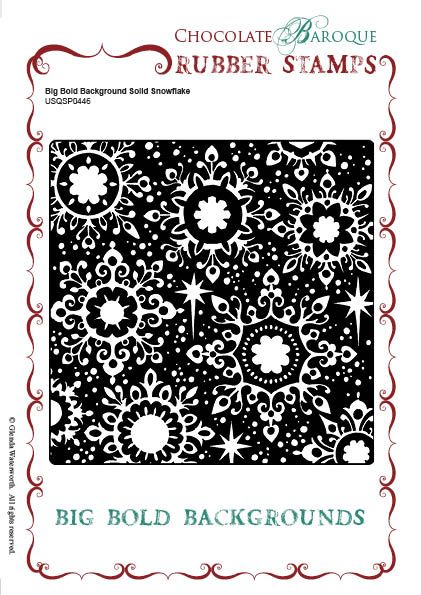 Big Bold Background Solid Snowflake Unmounted Single Rubber stam