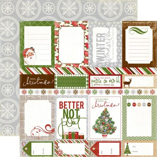 Very Merry Christmas - JOURNALING CARDS