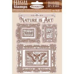 Stamperia Natural Rubber Stamp Nature is Art Frames
